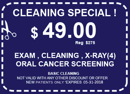 Los Angeles Teeth Cleaning Special Coupon for $ 49.00