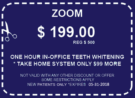 Coupon for Zoom Teeth Whitening Los Angeles